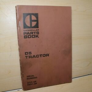Cat Caterpillar D5 Tractor Crawler Parts Manual Book 37j 98a Series Mitsubishi