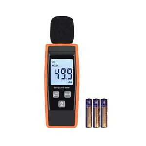 Linkfor Decibel Meter Digital Sound Level Tester Clear Lcd Display Battery Power