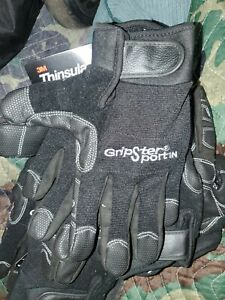 New Gripster Sport Insulated Thinsulate Leather Work Mechanic Gloves Size Med