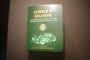 1965 Green Guide Handbook New Used Construction Equipment Values Appraisals