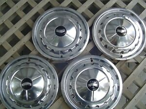 Vintage 57 Chevrolet Chevy Belair Impala Nomad Hubcaps Wheel Covers Center Caps
