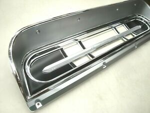 67 68 69 70 71 72 Ford Truck F100 F250 Chrome W Silver Black Dash Bezel New