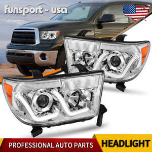 Fit For 2007 2013 Toyota Tundra 2008 2017 Sequoia Led Drl Projector Headlights