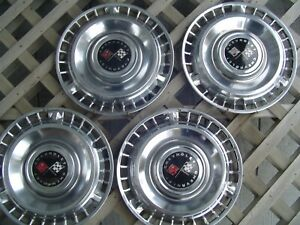 Four Vintage 1961 61 Chevrolet Chevy Impala Bel Air Nomad Hubcaps Wheel Covers