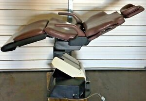 Belmont Model 036 Dental Vertical Back Patient Exam Chair Salmon Upholstery 115v