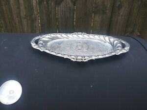 Vintage Oval Silver Tone Tray