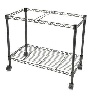 2 Tier Layer Practical Single Tier Metal Rolling Mobile File Cart Convenient