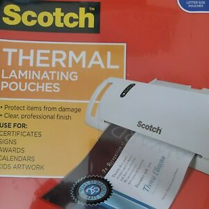 Scotch Thermal Laminating Pouches Letter Size tp3854 50