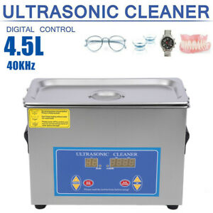 4 5l Digital Ultrasonic Cleaner Commercial Jewelry Glasses With Heater Timer Sx