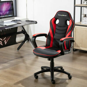 Ergonomic Executive Office Gaming Computer Desk Chair Swivel Pu Leather