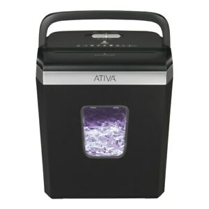 Ativa 6 Sheet Cross cut Shredder Black A06cc19