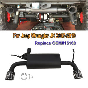 Muffler Exhaust System Kit Fit For Jeep Wrangler Jk 2007 2019 Replace Oem 15160