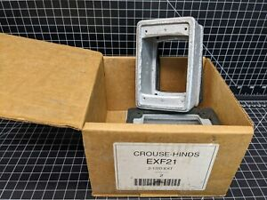 Crouse Hinds Exf21 Metal Fixture Extension 2 1 2 Single Gang Explosion Proof