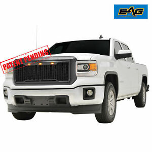 Eag Mesh Grille Replacement Raptor Led Light Fits For 2014 2015 Gmc Sierra 1500