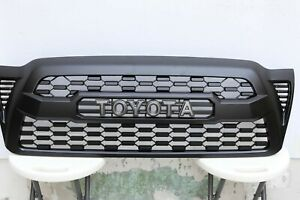 Fits For Grille For Toyota Tacoma 2005 2011trd Pro Black New