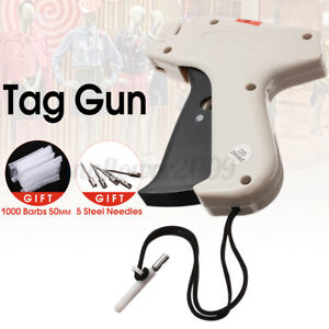 Clothing Regular Garment Price Tag Gun Machine With 1000 Barbs Label 5 Needles