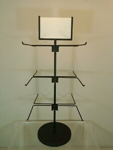 Retail Store Display Hanging Counter Top Spinner Rack 3 tier Wire 24 h