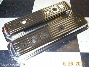 Sbc Small Block Chevy Center Bolt Chrome Valve Covers Vortec 5 0 5 7 Short