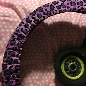 Purple Cheetah Steering Wheel Cover