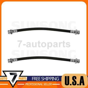 Sunsong Front Brake Hydraulic Hose 2x Fits 1971 1972 1200
