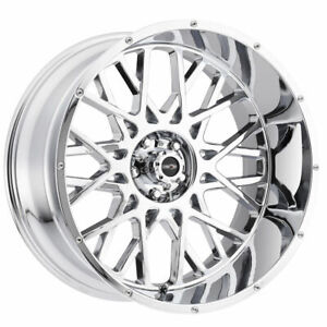 20x9 Chrome Wheels Vision 412 Rocker 6x5 5 6x139 7 10 Set Of 4
