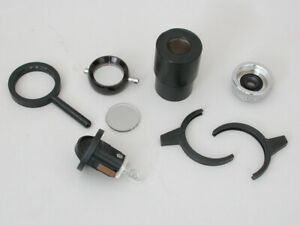 Lot Of Microscope Parts Eyepiece Filter Holders Light Source Etc