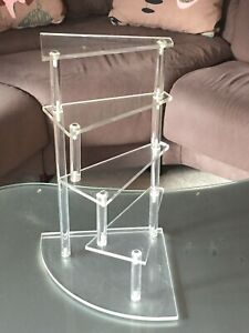 Vintage Mid Century Modern 5 Tier Stepped Lucite Display Stand 15 1 4