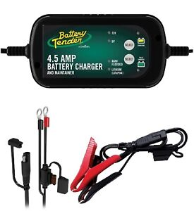 Battery Tender 4 5 Amp Smart Battery Charger Maintainer 6 12 V Microprocessor