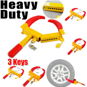 Anti Theft Wheel Lock Clamp Boot Tire Claw Trailer Automobile Car Truck Towing