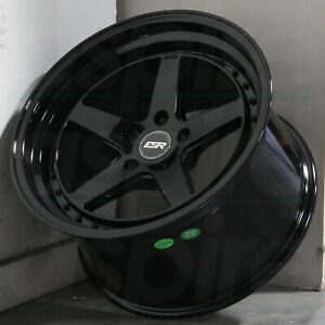19x9 5 Gloss Black Wheels Esr Cs05 Cs5 5x120 22 set Of 4