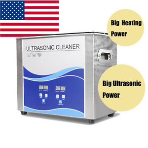 Usa Ultrasonic Cleaner Cleaning Equipment Liter Industry Heated W Timer Heater
