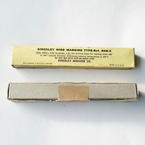 Kingsley Machine Type Wire Marking Type Ref Rsn x Hot Foil Stamping New