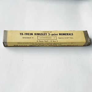 Kingsley Machine Type 3 Point Numerals Tx 1903n Hot Foil Stamping New