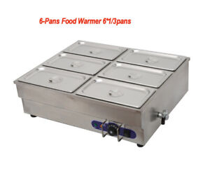 Steam Table Food Warmer Buffet 6 Pans Steamer Restaurant 110v 1 5kw Easy To Use