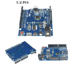 2 3pcs Latest Version Arduino Uno R3 Atmega328p 16au Ch340g Micro Usb Board