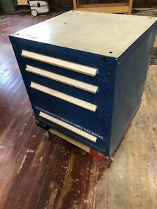 Used Stanley Vidmar 4 Drawer Cabinet Industrial Tool Storage Bench Height