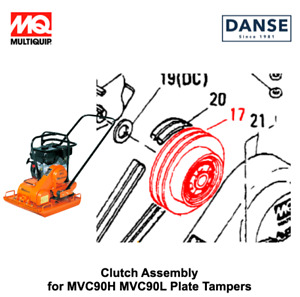 Clutch Assembly For Mvc90h Mvc90l Plate Tampers By Multiquip Mikasa 402326850