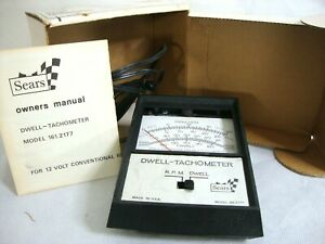 Vintage Sears Dwell Tachometer Model 161 2177 Diagnostic Tool Box And Manual