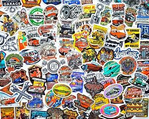 100 Pcs hot Rod Sticker Pack Race Car Pin Up Girls Bike Vintage Decal Stickers