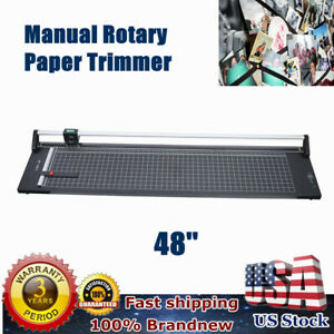 New 48 Hard Steel Manual Rotary Paper Cutter Trimmer photo poster banner copper