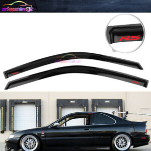Fit For 94 97 Honda Accord Coupe 2dr Window Visor Rain Deflector W Red Rs