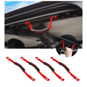 4pcs Roll Bar Grab Handles Grip Handle For Jeep Wrangler Jl 18 Red Accessories