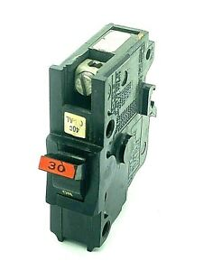 Fpe Na130 1 Pole 30 Amp 120 240vac Federal Pacific Stab lok Thick Breaker Red