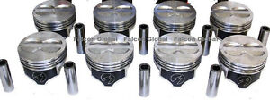 Speed Pro Chevy 400 Hypereutectic Coated Flat Top Pistons Set 8 For 5 7 Rod 60