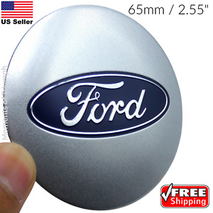 4 Pack Ford Wheel Center Hub Cap Sticker Decal Dome Shape 65mm 2 55 Silver