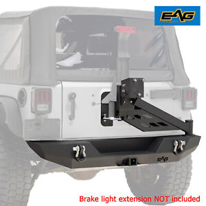 Eag Offroad Rear Bumper With Tire Carrier Linkage Fit For 07 18 Jeep Wrangler Jk