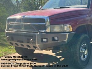 94 01 Dodge Ram 1500 Front Winch Bumper welded Usa Metal not China Bolt Together