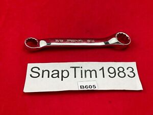 Snap on Tools Usa 5 8 And 3 4 Sae 12pt 10 Offset Short Box Wrench Xs2024