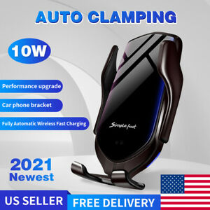 Automatic Clamping Smart Sensor Car Air Vent Phone Wireless Charger Holder Mount
