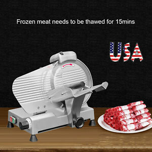 25cm Blade Semi automatic Meat Slicer Meat Cutter Cutting Machine For Restaurant